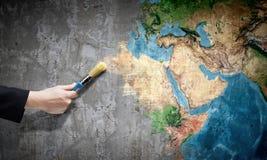 Позвольте нам покрасить мир стоковое изображение rf