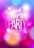 Позвольте партии ` s, дизайну танца всю ночь. Стоковые Изображения