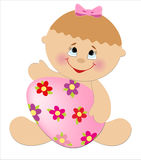 Поздравительая открытка ко дню рождения детей. Стоковые Изображения