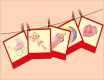 Поздравительая открытка ко дню рождения детей. Стоковые Фотографии RF