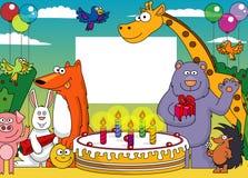 поздравительая открытка ко дню рождения его иллюстрация вектора