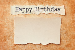 поздравительая открытка ко дню рождения счастливая Стоковые Фотографии RF