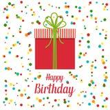 Поздравительая открытка ко дню рождения с днем рождений, иллюстрация вектора Стоковые Изображения