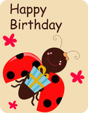 поздравительая открытка ко дню рождения Стоковые Изображения