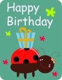 поздравительая открытка ко дню рождения Стоковые Изображения RF