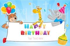 Поздравительая открытка ко дню рождения бесплатная иллюстрация