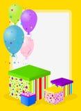 поздравительая открытка ко дню рождения Стоковое Изображение