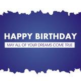Поздравительая открытка ко дню рождения C днем рожденья иллюстрация вектора