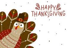 Поздравительная открытка благодарения с Турцией Стоковое фото RF