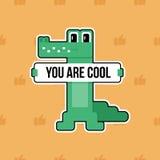 Поздравительная открытка вектора крокодила бесплатная иллюстрация
