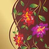 Поздравительная открытка вектора флористическая Стоковые Изображения RF