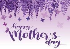 Поздравительная открытка дня матерей иллюстрация вектора