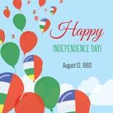 Поздравительная открытка Дня независимости плоская иллюстрация вектора