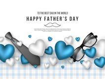 Поздравительная открытка дня отцов иллюстрация штока
