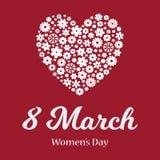 Поздравительная открытка дня счастливых женщин иллюстрация штока