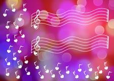 Поздравительная открытка листа музыки бесплатная иллюстрация