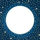 Поздравительная открытка луны и звезд бесплатная иллюстрация