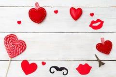 Поздравительная открытка на день ` s валентинки St скопируйте космос Стоковые Фотографии RF