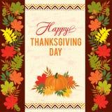 Поздравительная открытка оформления благодарения Стоковое Изображение