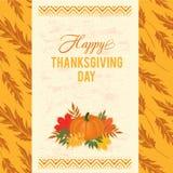 Поздравительная открытка оформления благодарения Стоковое фото RF