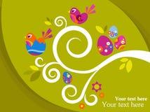 Поздравительная открытка пасхи бесплатная иллюстрация