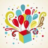 Поздравительная открытка подарка. Иллюстрация вектора