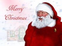 Поздравительная открытка предпосылки Санта Клауса с Рождеством Христовым Стоковая Фотография RF