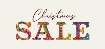 Поздравительная открытка продажи рождества традиционная винтажная бесплатная иллюстрация