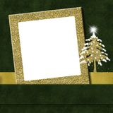Поздравительная открытка рамки рождества Стоковые Изображения RF