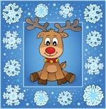 Поздравительная открытка 1 рождества орнаментальная Стоковые Фотографии RF