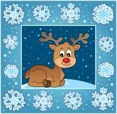 Поздравительная открытка 2 рождества орнаментальная Стоковые Изображения RF