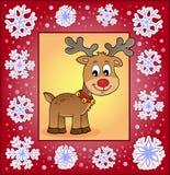 Поздравительная открытка 3 рождества орнаментальная Стоковые Фотографии RF