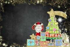 Поздравительная открытка рождества Санта Клауса Стоковые Фотографии RF