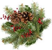 Поздравительная открытка рождества с ветвями ели и Стоковые Изображения RF