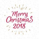 Поздравительная открытка рождества с знаком веселым Christm ярлыка состоя Стоковая Фотография RF