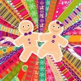 Поздравительная открытка рождества шаблона, вектор бесплатная иллюстрация