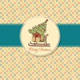 Поздравительная открытка рождества иллюстрация штока