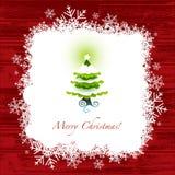 Поздравительная открытка рождества Стоковое Изображение