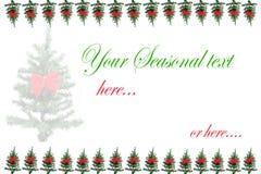 Поздравительная открытка рождественской елки Стоковое Изображение