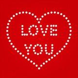 Поздравительная открытка сердца дня Валентайн Стоковое Изображение