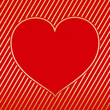 Поздравительная открытка сердца дня Валентайн Стоковая Фотография RF
