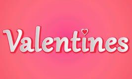 Поздравительная открытка счастливого дня Святого Валентина романтичная, плакат оформления иллюстрация штока