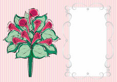 Поздравительная открытка с букетом цветков Стоковое Фото