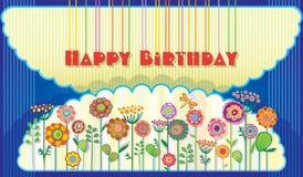 Поздравительная открытка с днем рождения Стоковое Изображение RF
