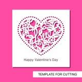 """Поздравительная открытка с кружевным сердцем с цветками, бабочкой и словом """"любовь """" бесплатная иллюстрация"""