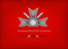 Поздравительная открытка с немецким медалью Стоковые Изображения RF