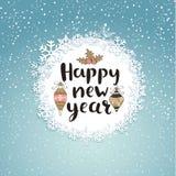 Поздравительная открытка с новым годом Стоковые Фото