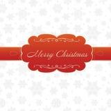 Поздравительная открытка с Рождеством Христовым на белой предпосылке бесплатная иллюстрация