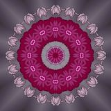 Поздравительная открытка с цветками на светлом металлическом сером цвете Стоковые Фотографии RF