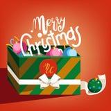 Поздравительная открытка шаржа с Рождеством Христовым Стоковые Фото